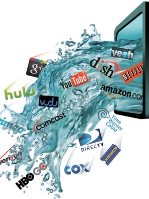 An illustration about streaming video and pay TV.