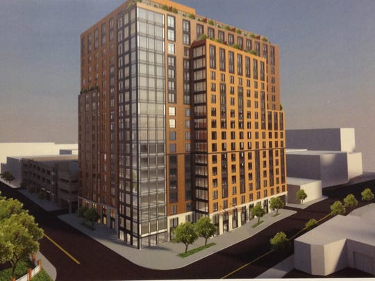 An artist's rendering of 42 W. Broad St., an $85 million residential-retail complex to be built in Mount Vernon's Fleetwood neighborhood.