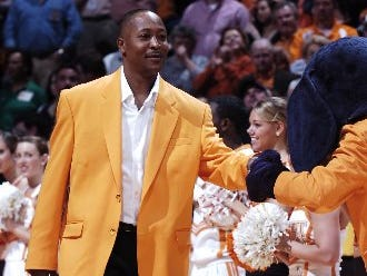 Tony White is introduced in 2009 as a member of Tennessee's All-Century Team