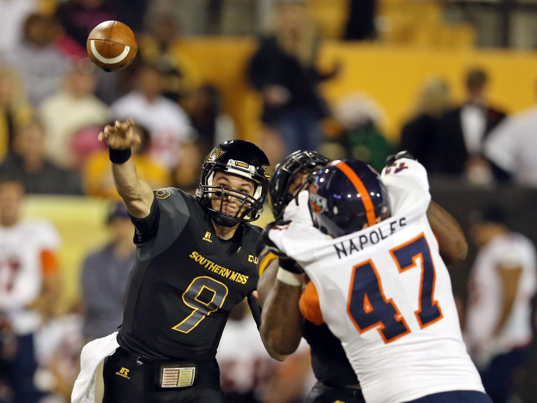 Southern Miss quarterback Nick Mullens has 30 touchdowns this season and is the team's nominee for the Conerly Trophy.