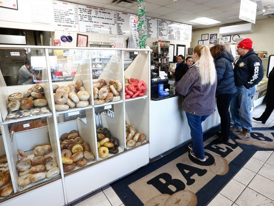 Interior of Bagel Train in Suffern on Tuesday, February