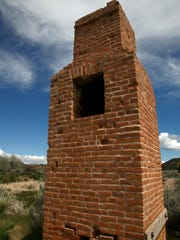 A chimney that was at one point a part of the moulding