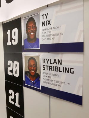 The MTSU signing day board in February 2016.