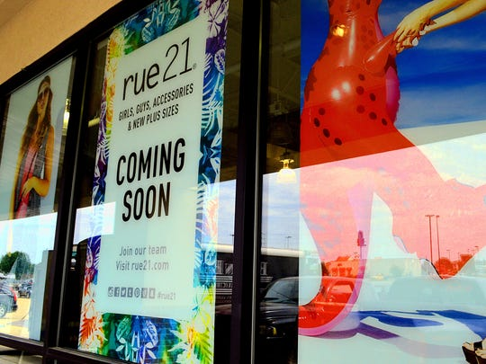 Work is under way at the future home of Rue 21 at No. 40 Plaza Way. The store received a remodeling permit and a sign permit from the city.