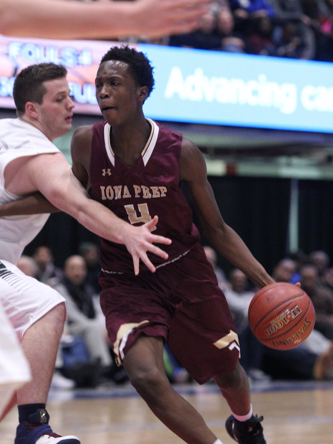 Iona Prep vs. Byram Hills in a semifinal game of the
