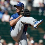 Struggling in spring training, Scott Kazmir insists he's 'good' after exiting game early