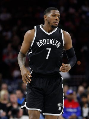 Joe Johnson (7) plans to sign with the Miami Heat when he clears waivers.