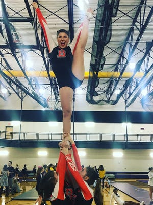 Brighton's Hannah Yaggie is Livingston Daily's Competitive Cheerleader of the Year in 2017-18.