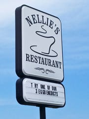 Nellie's is open for breakfast and lunch.