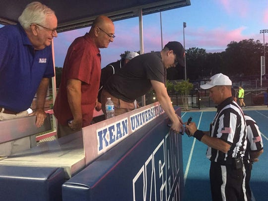 High school football instant replay debuted in 2018 in New Jersey.