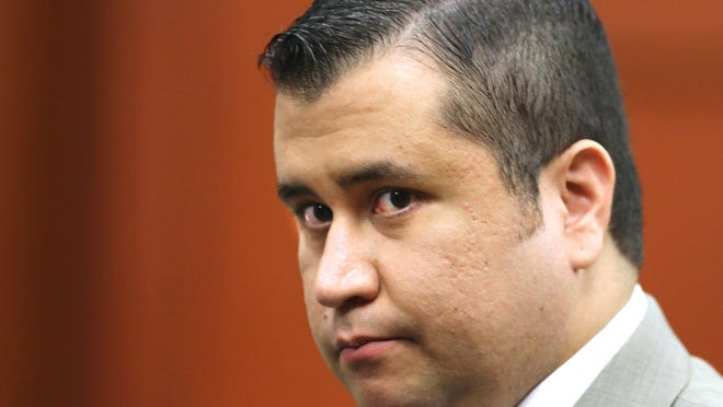FILE - In this July 9, 2013, file photo, George Zimmerman leaves the courtroom for a lunch break his trial in Seminole Circuit Court, in Sanford, Fla. Police officers in Florida say Zimmerman has been involved in a shooting, Monday, May 11, 2015. Zimmerman was acquitted in 2013 of fatally shooting Trayvon Martin, an unarmed black teenager, in a case that sparked protests and national debate about race relations. (Joe Burbank/Orlando Sentinel via AP, Pool, File)
