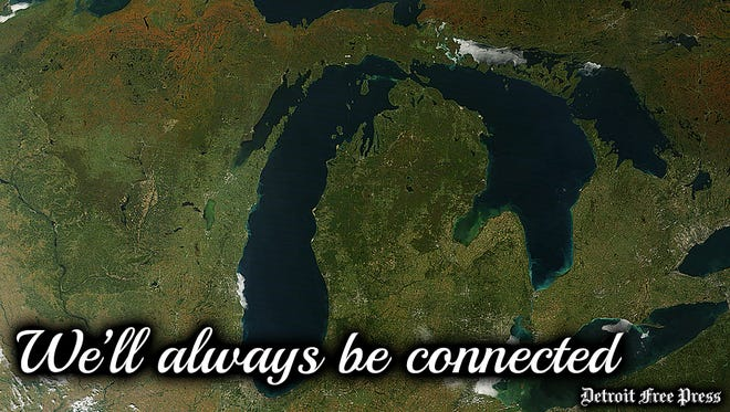 A Michigan Valentine's Day card for 2018.