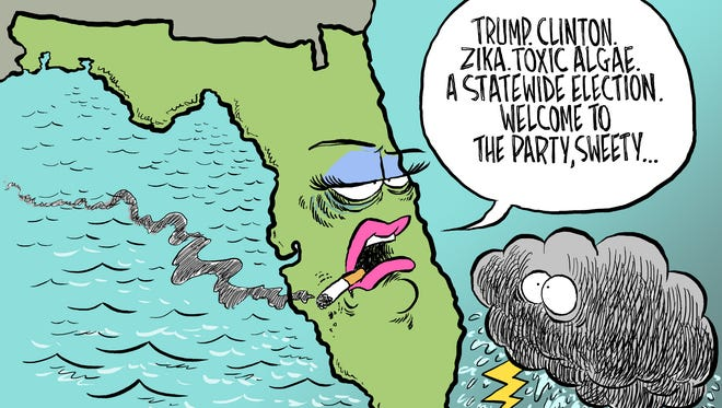 Florida Party Andy Marlette Editorial Cartoon