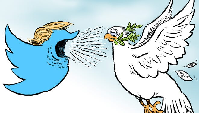 Trump peace talks commentary from Andy Marlette