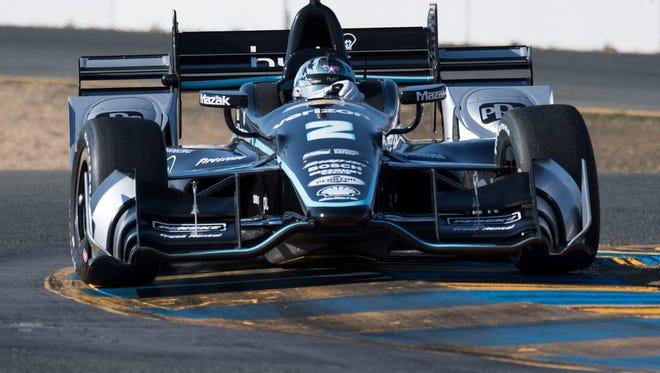 IndyCar Series driver Josef Newgarden (2) drives thru turn 9 during the GoPro Grand Prix of Sonoma at Sonoma Raceway.