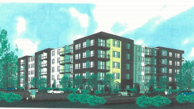 The rendering of the exterior of Stone Ridge in Milford as presented to the Milford Planning Board.