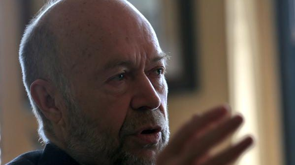 Climate scientist James Hansen, appearing at Democrat and Chronicle editorial board meeting, April 20, 2015.
