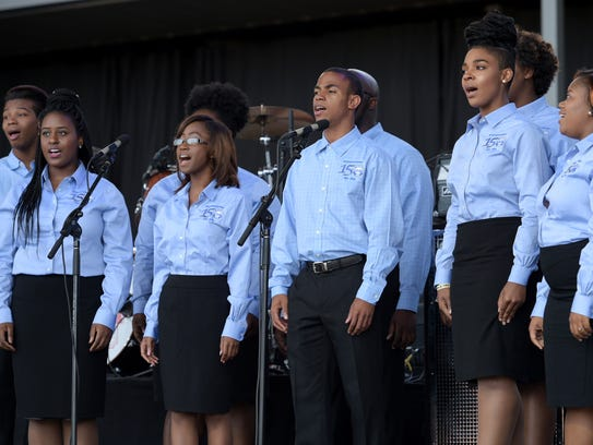 The Fisk Jubilee Singers perform at CMA Music Festival