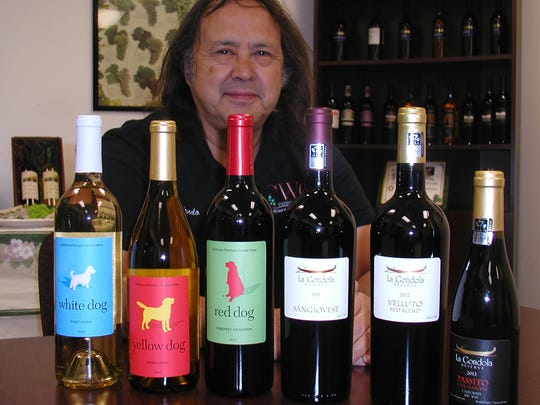 Hondo Breuer, an assistant at Cacciatore Fine Wines,