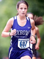 Oxbow's Izzy Giesing nears the home stretch by North