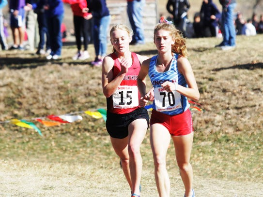 Girls picture; Ellie Abraham of Brookings, left, and