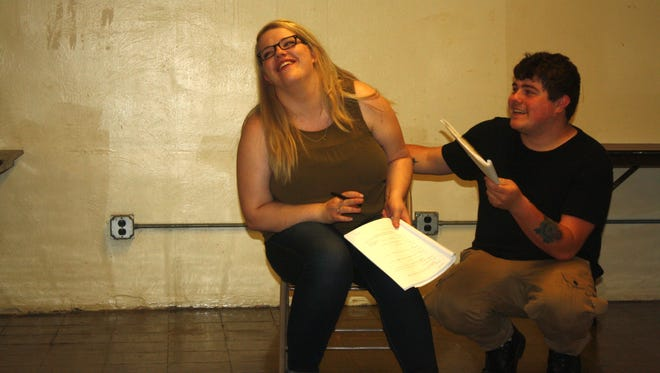 "Samantha Heatherman and Eli Carlin star in SPARE Productions' ""Letter Writing."""