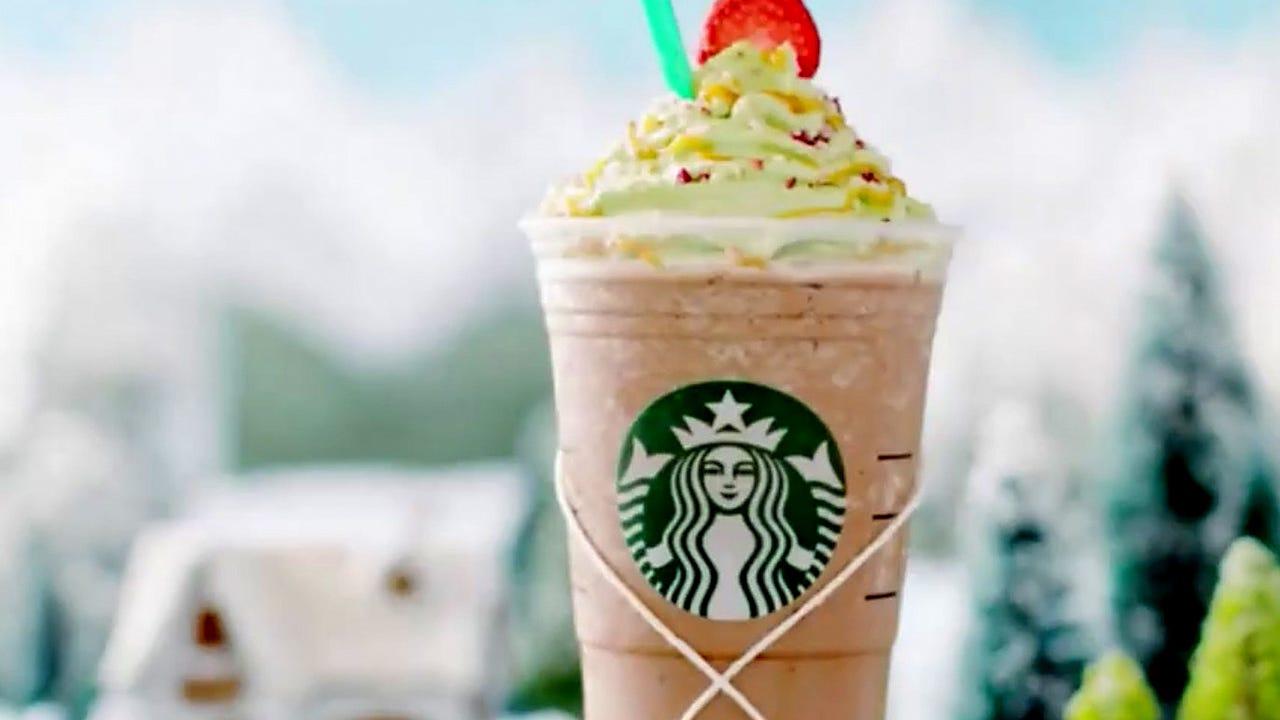 Christmas Tree Frap.Hooray Starbucks Releases A Christmas Tree Frappuccino