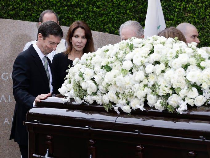 Patti Davis, right, and Ronald Prescott Reagan, left,