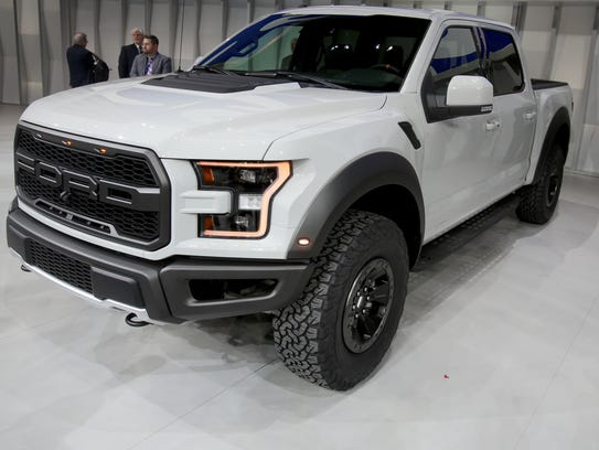 The 2017 Ford F-150 Raptor after it was unveiling during