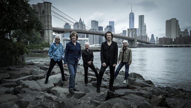 The current incarnation of the Zombies, seen in 2015: Tom Toomey (left to right), guitar; Rod Argent, keyboards/vocals; Jim Rodford, bass; Colin Blunstone, lead vocals; and Steve Rodford, drums.