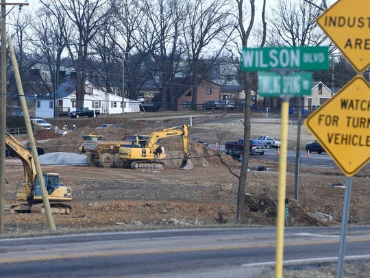 Construction at the intersection of Mule Academy and