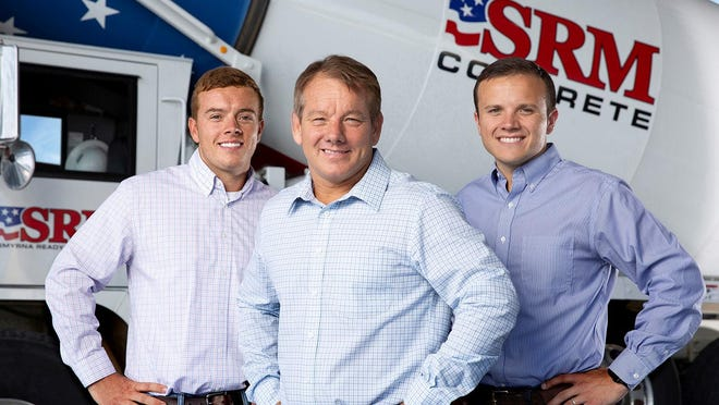 SRM Concrete has acquired North Augusta-based Cornerstone Ready Mix. SRM executives, from left, Ryan Hollingshead, president of SRM Materials; Mike Hollingshead, president/owner of SRM Concrete; and Jeff Hollingshead, CEO of SRM Concrete.