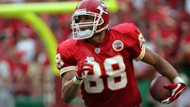 TE Tony Gonzalez spent the first dozen years of his record-setting career in Kansas City.