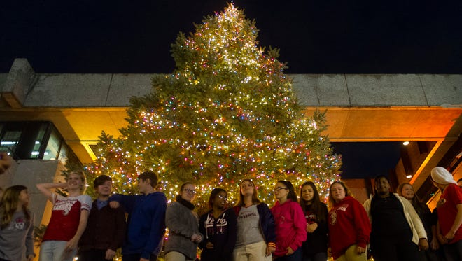 The lighting of the City of Evansville Christmas tree is Thursday night.