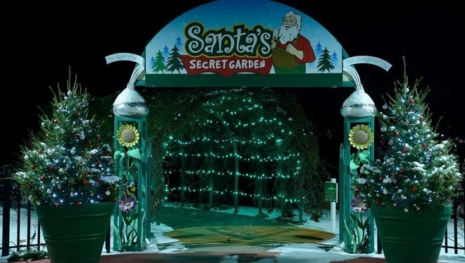 Santa's Secret Garden will light up Hershey Gardens for the holidays.