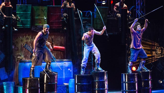 STOMP will perform at 7:30 p.m. Thursday, March 21 at the Murphey Performance Hall in San Angelo. They performed in the London Olympics closing ceremony.