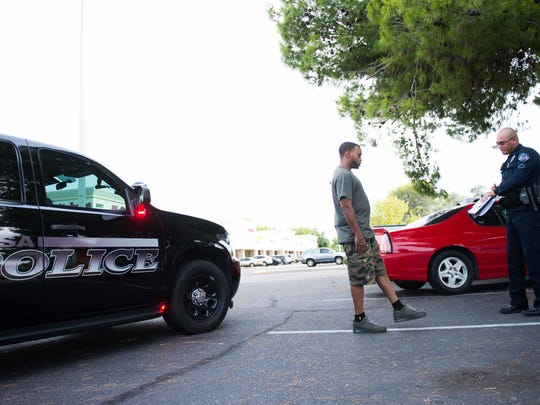 Traffic stop exchanges between the hard of hearing