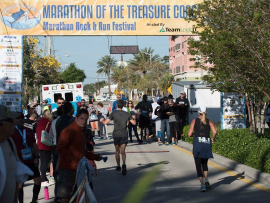 The sixth annual Marathon of the Treasure Coast is Sunday at Memorial Park and winds through the Stuart, Jensen Beach, Hutchinson Island and Sewall's Point.