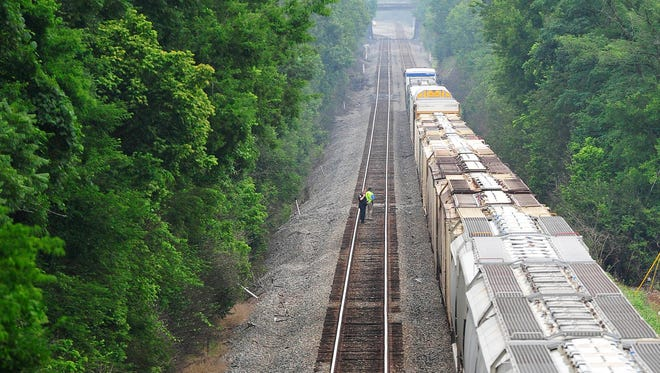 Police and CSX officials investigate a fatal train incident in Madison.