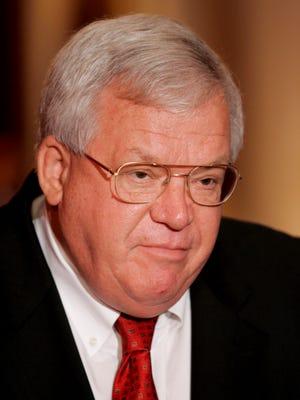 Former speaker of the U.S. House of Representatives Dennis Hastert, R-Ill.