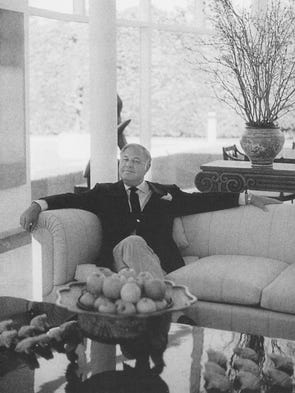 Estimate $3/4 million A. Alfred Taubman at his home