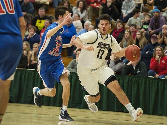 Mount Anthony vs. Burlington Boys Basketball 02/27/16