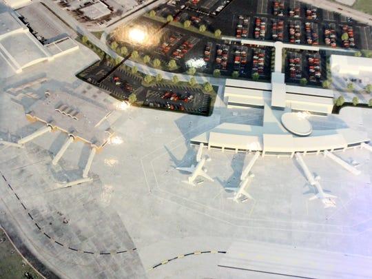 Renderings of planned Lafayette Regional Airport terminal