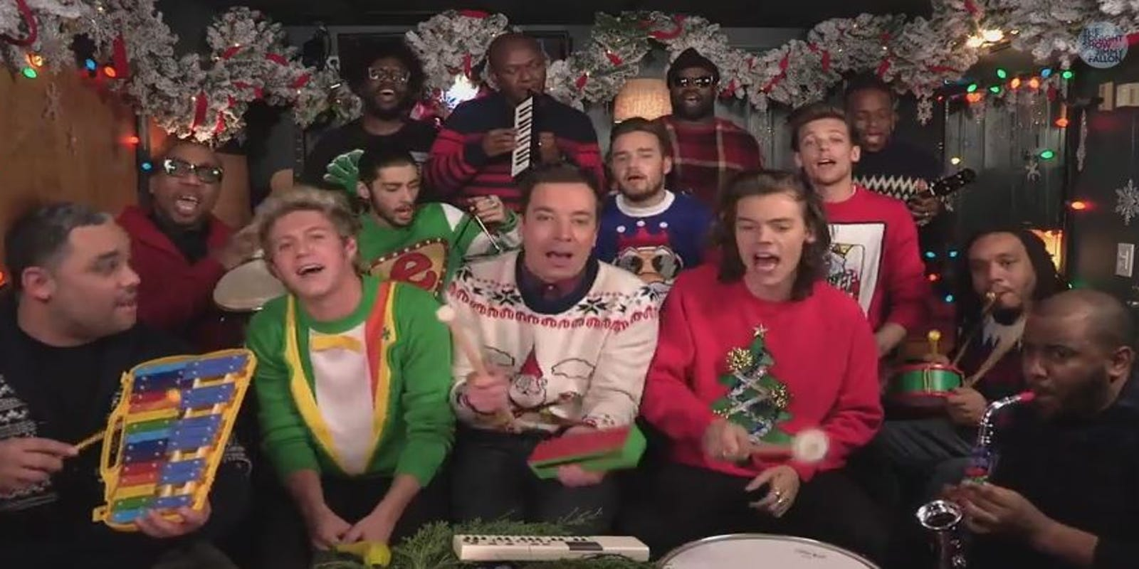 Watch: One Direction sings a Christmas song with kid instruments