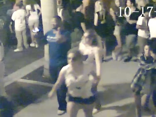 A still of surveillance film released from the night