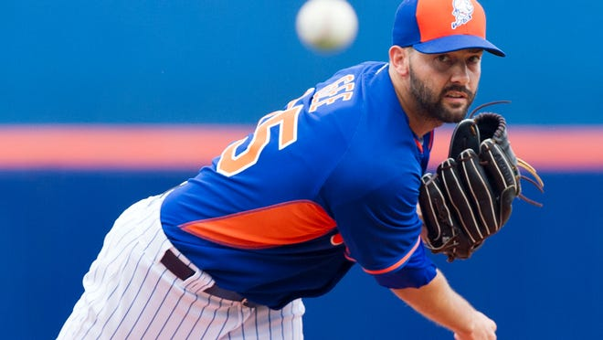 Mets starting pitcher Dillon Gee throws in a 4-3 loss to the Houston Astros at Tradition Field. Gee scattered four hits over four scoreless innings.