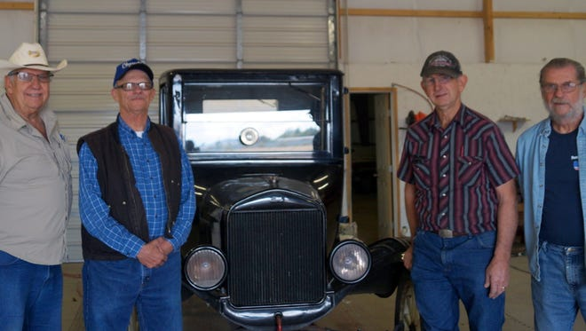Long-time members of the Smok'n Oldies Classic Car Club in Deming are, from left, Ben Kellogg, Richard Feaselman, Jack Chafee and Art Malies.