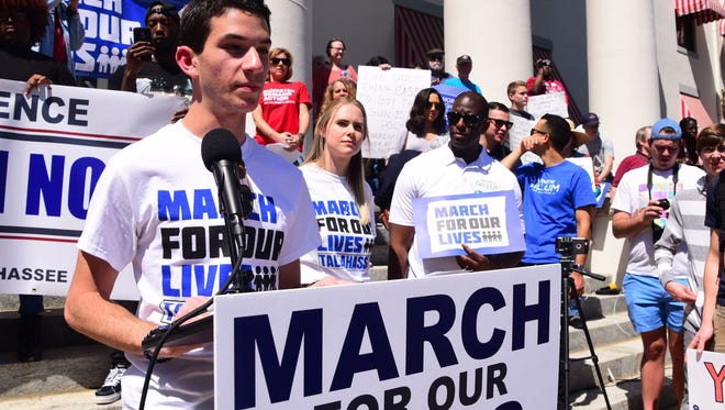 Stoneman Douglas alumnus and Florida State University student, Matthew Harris, organized Tallahassee's March for Our Lives.