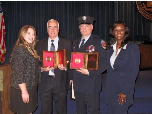 New Rochelle firefighter Daniel Thompson award