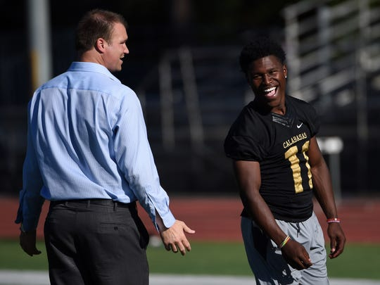 Players like Darnay Holmes (11) have great faith in